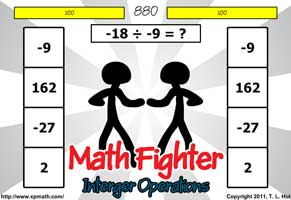 Xp Math Math Games Arcade Math Fighter Integer Operations Free